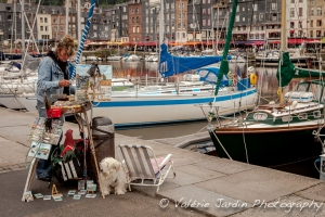 Painter in Honfleur.
