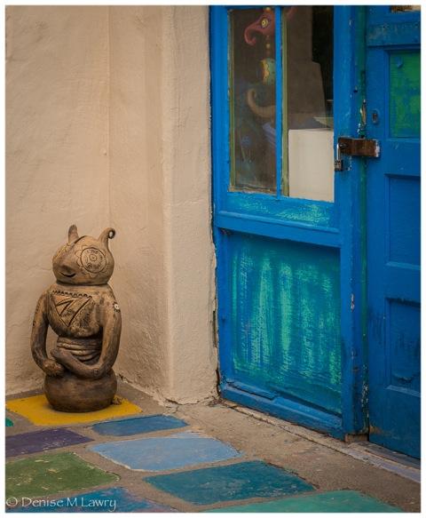 figure and blue door (1 of 1)