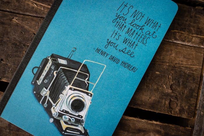 My son recently gave me this notebook for the wonderful quote on the cover so I had to share with you.  ©Valérie Jardin