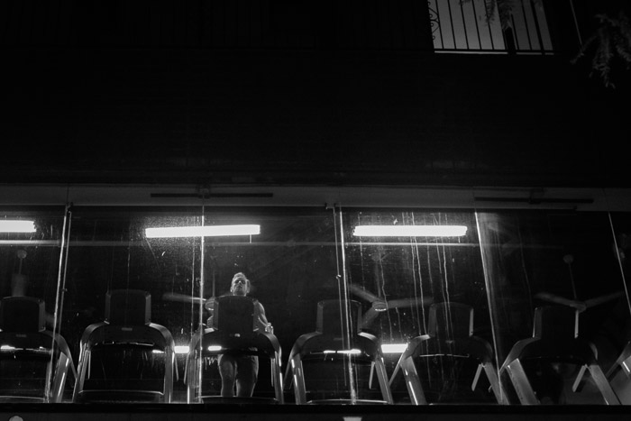 Night time gym goer ©Valerie Jardin